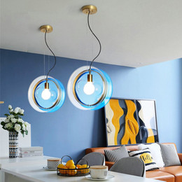 $enCountryForm.capitalKeyWord Australia - Nordic Colorful Glass Ball Pendant Lights Creative Personality Designer Suspension Luminaire Bedroom Cafe Kitchen Home Deco Lamp