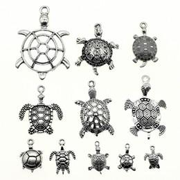 $enCountryForm.capitalKeyWord Australia - 300Gram Mix Designs Antique Silver Color Zinc Alloy Turtle Charms Pendant Jewelry Accessories