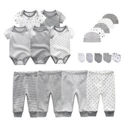 Unisex NewBorn Bodysuits Infant Pants Hats Kids Gloves Baby Clothes Cotton Clothing Sets Roupa De Girls Boy Clothes