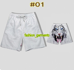 eee9f61cb1 Summer New Fashio European And American Style Print Tiger Head Couple Beach  Pants Mens Five Pants Mens Designer High Quality Casual Shorts