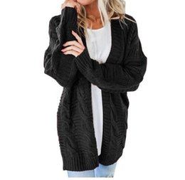 $enCountryForm.capitalKeyWord UK - Women Jacket Winter Long Sweater Casual Cardigan Plus Size Ladies 2019 Mujer Coat For Girls 18oct23