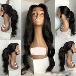 virgin hair hairlines 2020 - Natural Hairline Full Lace Wigs for Black Women Natural Body Wave Brazilian Virgin Human Hair Lace Front Wigs With Baby