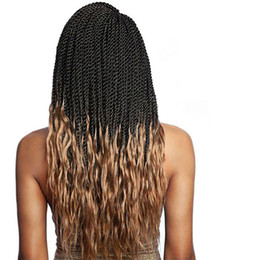 Twist Braiding Hair UK - 18'' Crochet Twist Braids Ombre Braiding Hair Synthetic Senegalese Braids Crochet Hair Braid