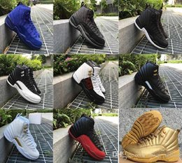 $enCountryForm.capitalKeyWord NZ - 12 new hot XII basketball shoes men women ovo white Gym red French Blue Taxi Playoffs wolf grey Flu Game The Master sneakers