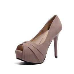 $enCountryForm.capitalKeyWord Australia - 12CM Ultra High Heels Platform Nude European and American Fashion Nightclubs Female Red Bottom High Heels with Fish Mouth Sexy Shoes