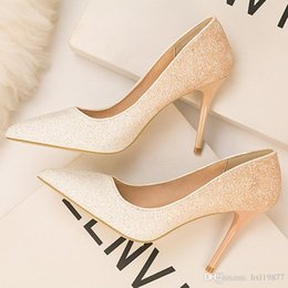 American Suede Shoes NZ - Spring New Women's Shoes European and American Fashion Sexy High Heels Pointed Suede Hollow Work Shoes Simple Single Shoes z6289-18