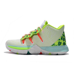 Chinese  Cheap mens kyrie 5 basketball shoes EYBL Green Yellow Easters Orange Multi Kobe Mamba kyries irving sports sneakers boots with box size 7 12 manufacturers