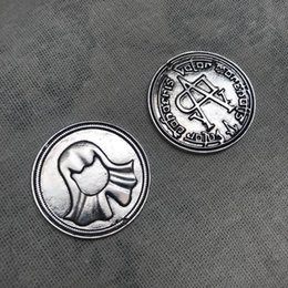 Cosplay Coins Australia - 100pcs Hot Movie Game of Thrones Faceless Coin Song of Ice and Fire Valar morghulis Jaqen H'ghar Aaliyah Badge 1:1 Cosplay Accessories