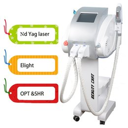 Discount photon hair ipl photon skin rejuvenation nd yag laser for sale tattoo removal 3 in 1 multifunctional machine 2 warranty for pigment removal face lifting