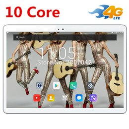 new 4g lte phone 2019 - Hot New Tablets Android 7.0 10 Core 64GB ROM Dual Camera and Dual SIM Tablet PC Support OTG WIFI GPS 4G LTE bluetooth ph