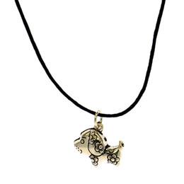 $enCountryForm.capitalKeyWord Australia - Fashion 925 silver zodiac 12 leather rope necklace simple personality DIY pure silver dog leather rope necklace pendant