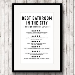 funny bathroom wall art UK - ainting & Calligraphy Funny Bathroom Reviews Canvas Art Prints and Poster , Bathroom Quotes Modern Minimalist Painting Picture Home Wall ...