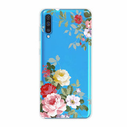 China Soft TPU Case For Galaxy A30 A50 Huawei P30 lite Pro Honor 8X Henna White Floral Paisley Mandala Flower Lace Rose Transparent Phone Cover supplier mandala phone case iphone 6s plus suppliers
