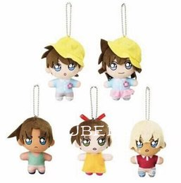 Mini Movie figures online shopping - EMS Styles Q Conan Baby CM Plush Plush Keychain Mini Bag Xmas Pendant Lovely Gift Doll