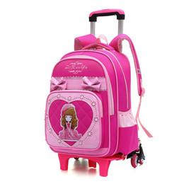 fcfabbb1bb Children Wheeled Backpacks UK - Trolley School Bags 2 6 trolley school backpack  Girls princess Backpack