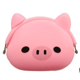 $enCountryForm.capitalKeyWord UK - Women Girls Wallet Kawaii Cute Cartoon Animal Silicone Jelly Coin Bag Purse Kids Gift Pink Pig
