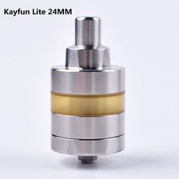 Kayfun rta atomizer online shopping - 2019 Newest Kayfun Lite RTA Atomizer Electronic Cigarette MM Diameter SS KF Lite Mech Tank Kayfun Prime V5 for Mechanical Box Mod Kit