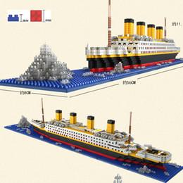 Diy Kits Toy Australia - 1860 Pcs Match Rs Titanic Cruise Ship Model Boat Diy Building Diamond Blocks Kit Children Kids Toys Christmas Gifts Y190606
