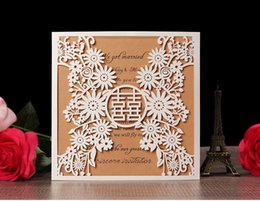 $enCountryForm.capitalKeyWord NZ - 2019 Elegant wedding invitations paper greeting card business thank you meeting cards RSVR flora modern laser cut invitations paper