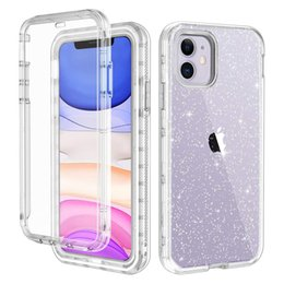 glitter iphone screen protector NZ - For Iphone 11 Case with Built-In Screen Protector Glitter Hybrid Soft TPU Hard PC Full-Body Protection Phone Case for Iphone 11 Pro Max