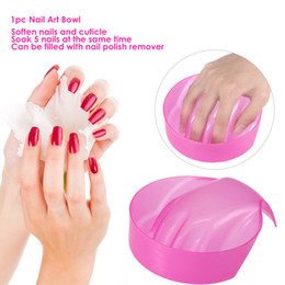 manicure bowls NZ - 1pc Nail Art Bowl Hand Soak Off Nail Removal Tray Soaker Art Tips Wash Salon Manicure Tool Pink