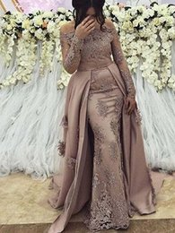 muslim women evening gown Australia - Sexy Plus Size Arabic Muslim Long Sleeve Evening Prom Dresses Gown 2019 Elegant Women Formal Gala Party Long Dress