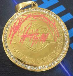 $enCountryForm.capitalKeyWord Australia - BIG Heavy 18k gold plated motorcyle harley biker stainless steel skull pendant foe men.s jewerly
