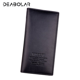 Best Brand Leather Purses UK - (WOERFU) Fashion Classic Men Soft Long Brand Leather Wallet Purse Clutch with Card Holder for Men's Best Gift Free Shipping #529191