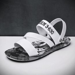 $enCountryForm.capitalKeyWord Australia - 28Outdoor sandals for men's slippers personality print Korean summer flip-flops for men's sandals slip-resistant fashion trend