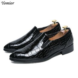 Male Fashion Suits Australia - Yomior High Quality New Design Work Office Suit Shoes Fashion Black Formal Dress Leather Shoes Party Wedding Male Oxfords