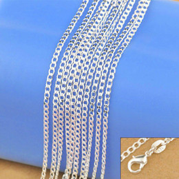 Silver Chains Free Shipping Australia - 925 Sterling Silver Necklace Genuine Chain Solid Jewelry for women 16-30 inches Necklaces Fashion Jewelry Free Shipping