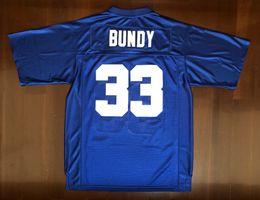 Опт Доставка из США Al Bundy # 33 Polk High Женаты с детьми Мужчины кино футбол Джерси все сшиты Синий S-3XL высокого качества