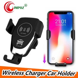 gravity cell phone holder Australia - QI Car Charger Fast Wireless Cell Phone Chargers Gravity Compatible Charging Car Mount Phone Holder For iPhone XS Max 8 7 X Samsung S10