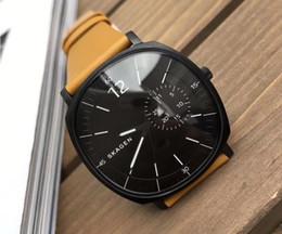 Discount geneva gold watch - New Geneva fashion business simple men's leather strap clock top luxury brand men's quartz fashion men's