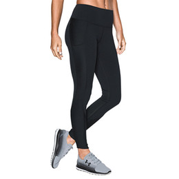 Tracking Workouts Australia - High Waist UA Stretchy Leggings Women Sports Jogging YOGA Pants Under Skinny Tights Armor GYM Workout Trousers Solid Track Pants C42305