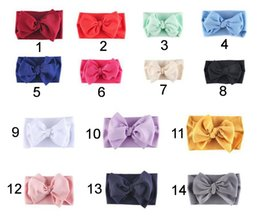 big bow diy Australia - 2020 Corn Grain Big Bow Elastic Headband Wide Girls Hair bands Fabric DIY Turban Headwraps Children Hair Accessories