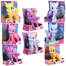 Wholesale Boxes Packaging Australia - Toys Original Come With Box Packaging 22CM Pony PVC Action Figures Model Doll Princess Cadence Rainbow Dash Pinkie Pie Kids toys
