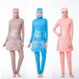 Modest Women Swimsuits Australia - A Modest Muslim Large Size Swimwear Hijab Muslimah Women Plus Size Islamic Swim Wear Swimsuit Arab Moslim Beachwear Badpak