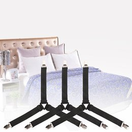 SheetS holder online shopping - Triangle Bed Mattress Sheet Corner Clips Grippers Adjustable Suspender Straps Elastic Fastener Sheet Holder Home Supplies