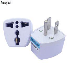 Power Socket Eu Australia - Amvykal 250V 10A White Travel AC Power Electrical Plug Adaptor Universal UK AU EU To US Plug Adapter Socket Converter