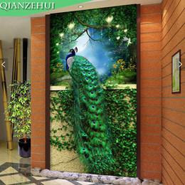 $enCountryForm.capitalKeyWord Australia - Qianzehui,diy Diamond Embroidery,round Diamond Green Peacock Porch Full Rhinestone 5d Diamond Painting Cross Stitch,needlework J190711