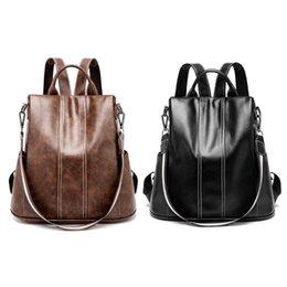 Khaki Backpack Sale Australia - 2019 New Hot Sale Women Lady Girls Backpack Travel Shoulder Bag PU Leather Rucksack Daypack Bags