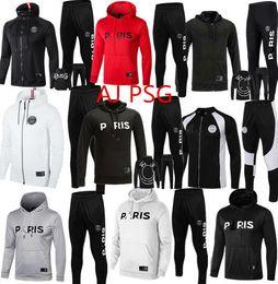 b5baa29a1 2019 Jordam X PSG jacket hoodie Champions League Survetement 2019 PSG  MBAPPE football jackets POGBA soccer HOODI