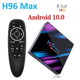 max tv box UK - H96 MAX RK3318 Smart Android 10.0 TV Box 16GB 32GB 64GB Media player 4K Wifi Netflix Set top Youtube 10 Player