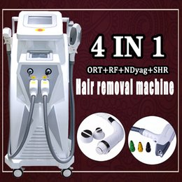 Permanent Hair System Australia - Big Spot size Elight IPL RF machine for permanent hair removal skin rejuvenation E-light IPL Nd yag laser system
