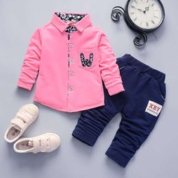 Baby Pant Coat Dress Australia - good quality Baby Boy Spring Autumn Clothes Dress Top Jacket+Pant 2Pcs Toddler Boys Coat Formal Party Occasion Clothes Sets for Boys
