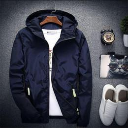 $enCountryForm.capitalKeyWord Australia - 2018 New Spring Autumn Bomber Windbreaker Jacket Men Casual Slim Hooded Thin Zipper Raincoat Outwear Jacket Plus Size 6XL 7XL