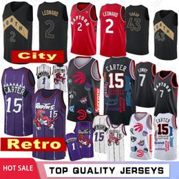 abc2fc901350 NCAA Mens Kawhi camisetas de baloncesto Leonard Retro Carter University  Lowry Jerseys Siakam Venta caliente   1   2   7   15   43
