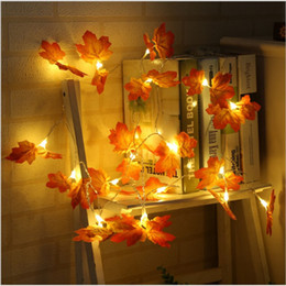 Leaves Lights Australia - New Fairy String Lights 10 20 30 LEDs Maple Leaves Light Battery Operated for Wedding Home Christmas Party Decorations