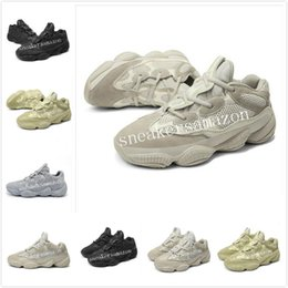 new moon shoes 2019 - 2019 New Salt 500 Kanye West Casual running Shoes Men Designer Shoes Super Moon Yellow Blush Desert Rat 500 Trainers Sne